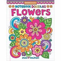 Notebook Doodle Flowers Coloring Book