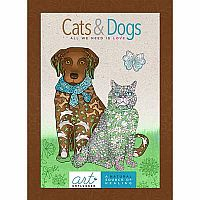 Cats & Dogs-All We Need Is Love Coloring Book